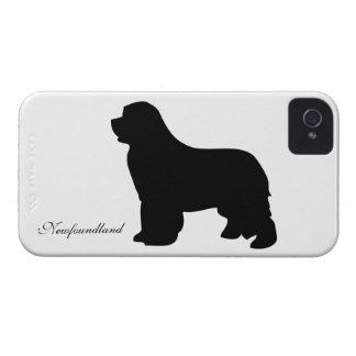 Newfoundland dog iphone 4 case barely silhouette