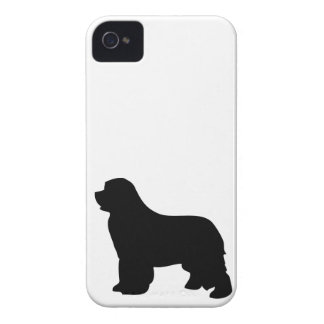 Newfoundland dog iphone 4 case barely silhouette