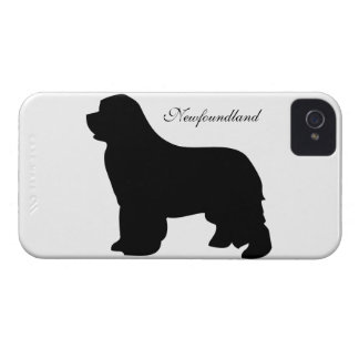 Newfoundland dog iphone 4 case id black silhouette