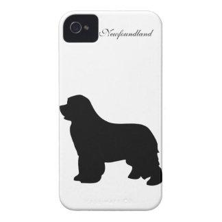Newfoundland dog iphone 4 case id black silhouette