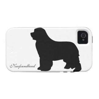 Newfoundland dog iphone 4 case tough, silhouette