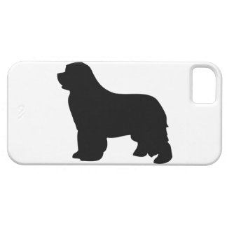 Newfoundland dog iphone 5 case barely silhouette