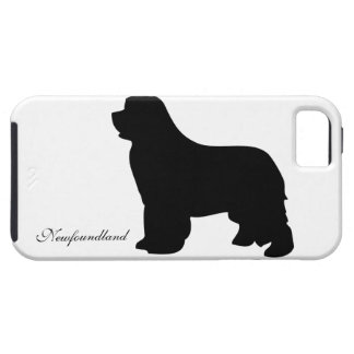 Newfoundland dog iphone 5 case tough, silhouette