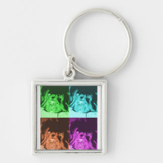 Newfoundland Dog Key Chain