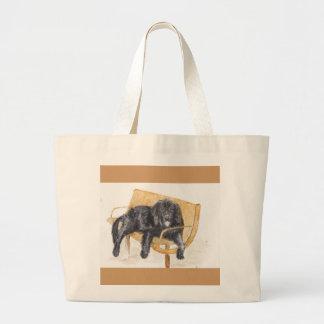 Newfoundland Dog Large Tote Bag