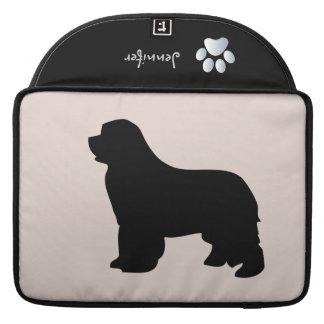 Newfoundland dog macbook air sleeve, silhouette sleeve for MacBook pro