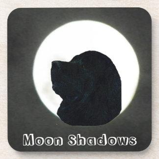 Newfoundland Dog Moon shadow Cosasters Drink Coaster