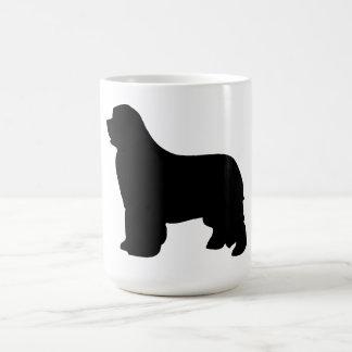 Newfoundland dog mug, black silhouette, gift coffee mug