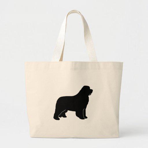 Newfoundland dog newfy newf jumbo tote bag