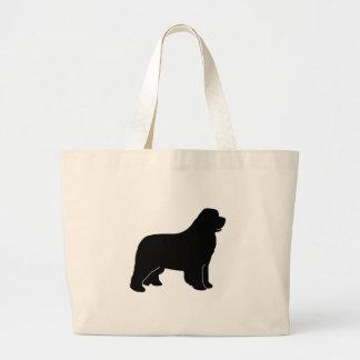 Newfoundland dog newfy newf large tote bag
