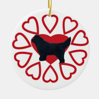 Newfoundland dog ornament