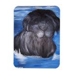 Newfoundland Dog painting Flexible Magnet