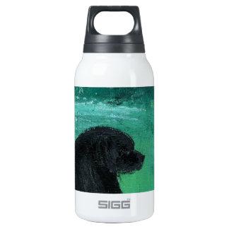 Newfoundland dog painting insulated water bottle