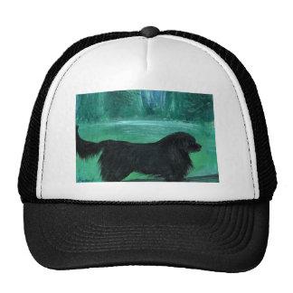 Newfoundland dog painting mesh hats