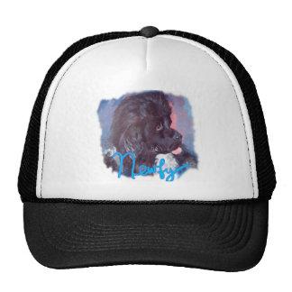 Newfoundland Dog Painting Trucker Hat
