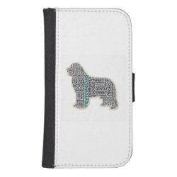 Newfoundland dog phone wallet