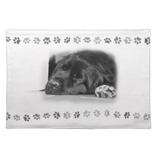 Newfoundland dog place mat