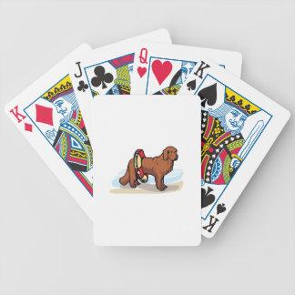 NEWFOUNDLAND DOG BICYCLE PLAYING CARDS