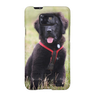 Newfoundland dog puppy cute beautiful photo, gift samsung galaxy SII cover
