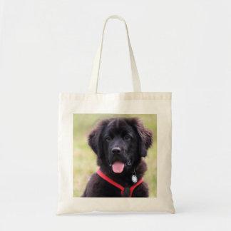 Newfoundland dog puppy cute photo beautiful gift tote bag