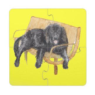 Newfoundland Dog Puzzle Coasters Puzzle Coaster