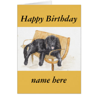 Newfoundland Dog relaxing Card