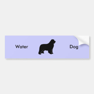 Newfoundland dog silhouette car bumper sticker