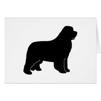Newfoundland dog silhouette greeting card