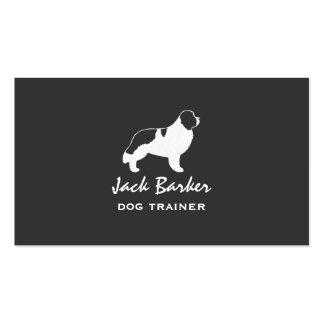 Newfoundland Dog Silhouette - Landseer Double-Sided Standard Business Cards (Pack Of 100)