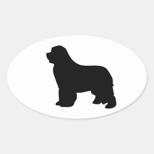 Newfoundland dog stickers, black silhouette, gift