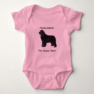Newfoundland Dog The Gentle Giant Baby Bodysuit