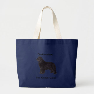 Newfoundland Dog The Gentle Giant Large Tote Bag