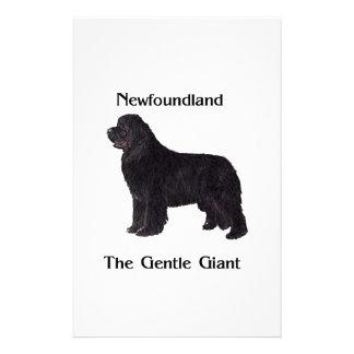 Newfoundland Dog The Gentle Giant Custom Stationery