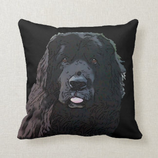 Newfoundland Dog Throw Pillow