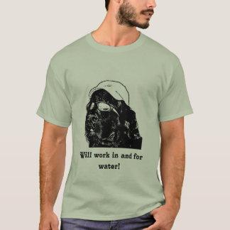 Newfoundland dog will work for water Tee shirt