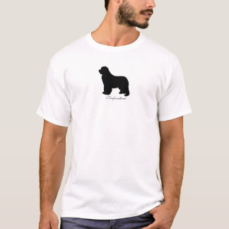Newfoundland dog womens t-shirt, silhouette logo T-Shirt
