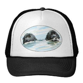 Newfoundland Dogs Swimming Trucker Hat