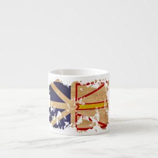 Newfoundland Flag 6 Oz Ceramic Espresso Cup