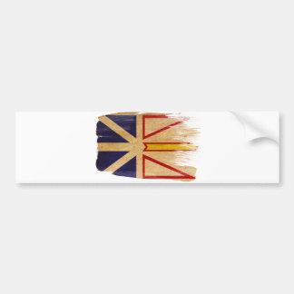 Newfoundland Flag Car Bumper Sticker