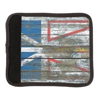 Newfoundland Flag on Rough Wood Boards Effect Handle Wrap