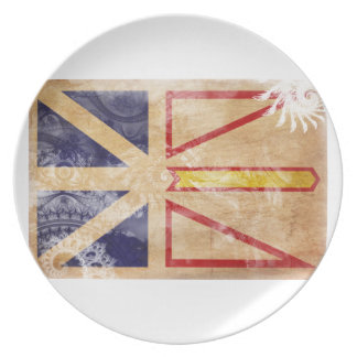 Newfoundland Flag Party Plates