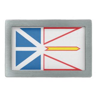 Newfoundland flag rectangular belt buckle