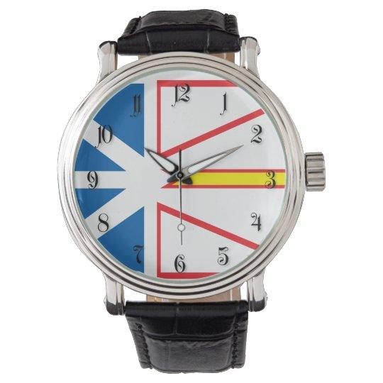 Newfoundland flag wrist watch