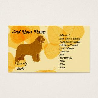 Newfoundland - Gold Leaves Design Business Card