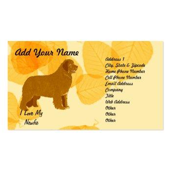 Newfoundland - Gold Leaves Design Business Card Template