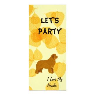 Newfoundland - Gold Leaves Design Card