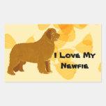 Newfoundland - Gold Leaves Design Stickers