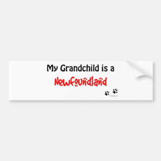 Newfoundland Grandchild Bumper Sticker