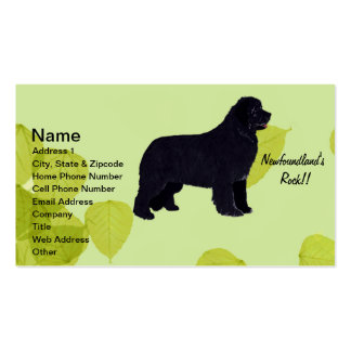 Newfoundland - Green Leaves Design Business Card Templates