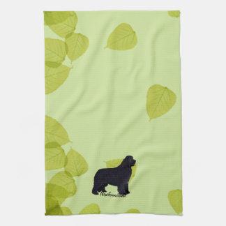 Newfoundland - Green Leaves Design Kitchen Towel